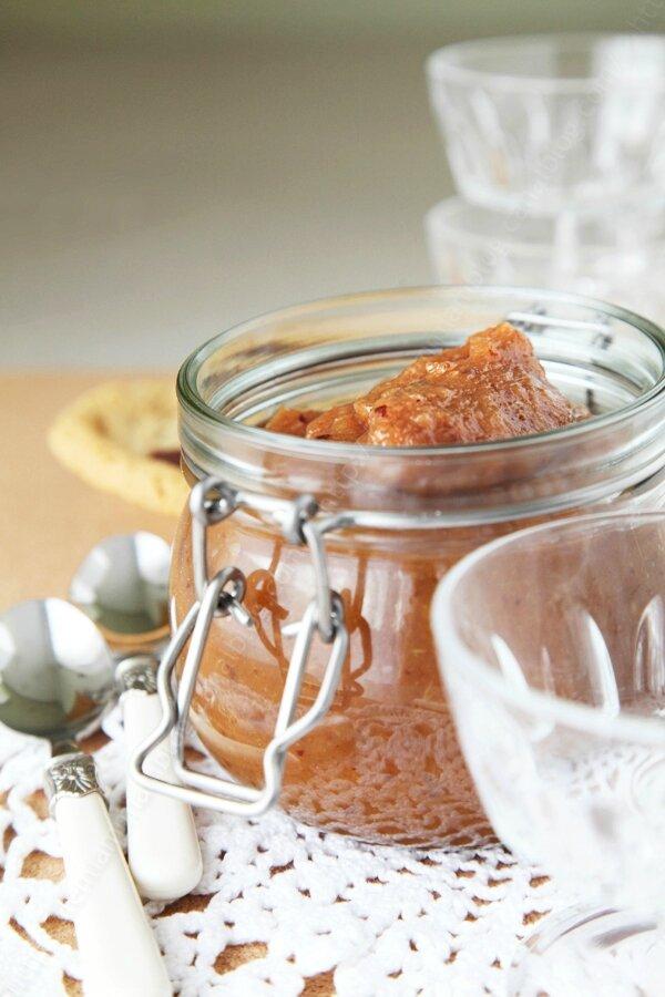 Compote de pommes aux pruneaux façon apple pie