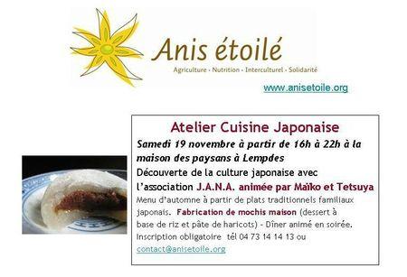Atelier de cuisine japonaies 19112011