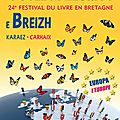 Festival du livre de carhaix - 26 et 27 octobre