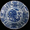 Chinese blue and white kraak, wanli (1573-1619)