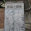 Les poilus de fresnes sur escaut : le monument aux morts