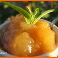 CONFIT DE POMMES A LA VERVEINE CITRONNEE