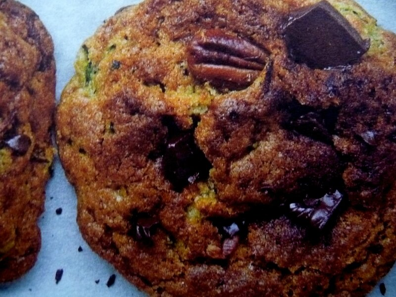 cookies choco courgette