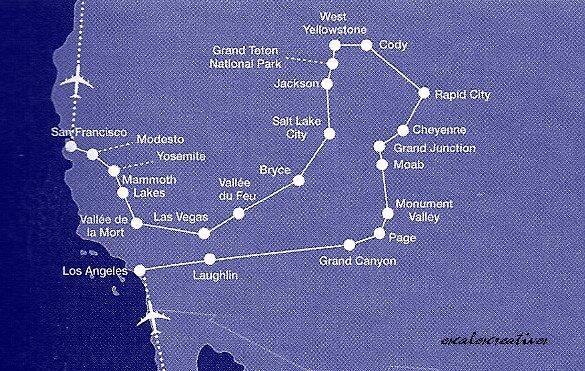 plan de l'Ouest USA