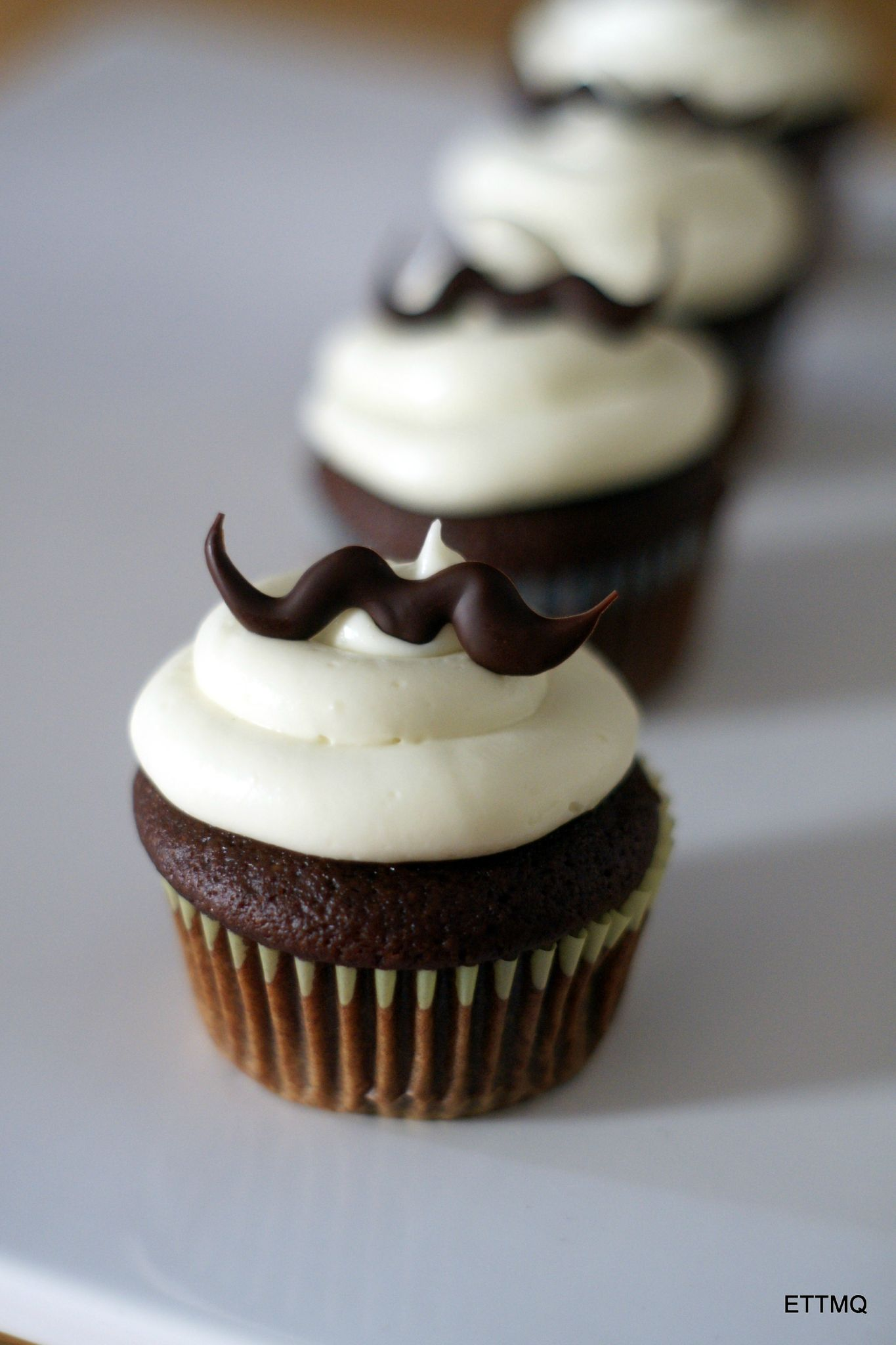 Movember chocolate and beer cupcakes