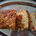 Cake chorizo poivron (au thermomix ou sans)