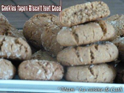 """ღ """" MIAM """" Cookies façon biscuits Tout Coco"""