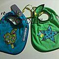 bavoir bleu et vert Swapp TTF