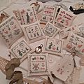 RESERVED for Montine NEW Set of 12 Pieces: 11 Pillows + 1 clothespin angel SHIPPING: This set will ship in a cardboard box