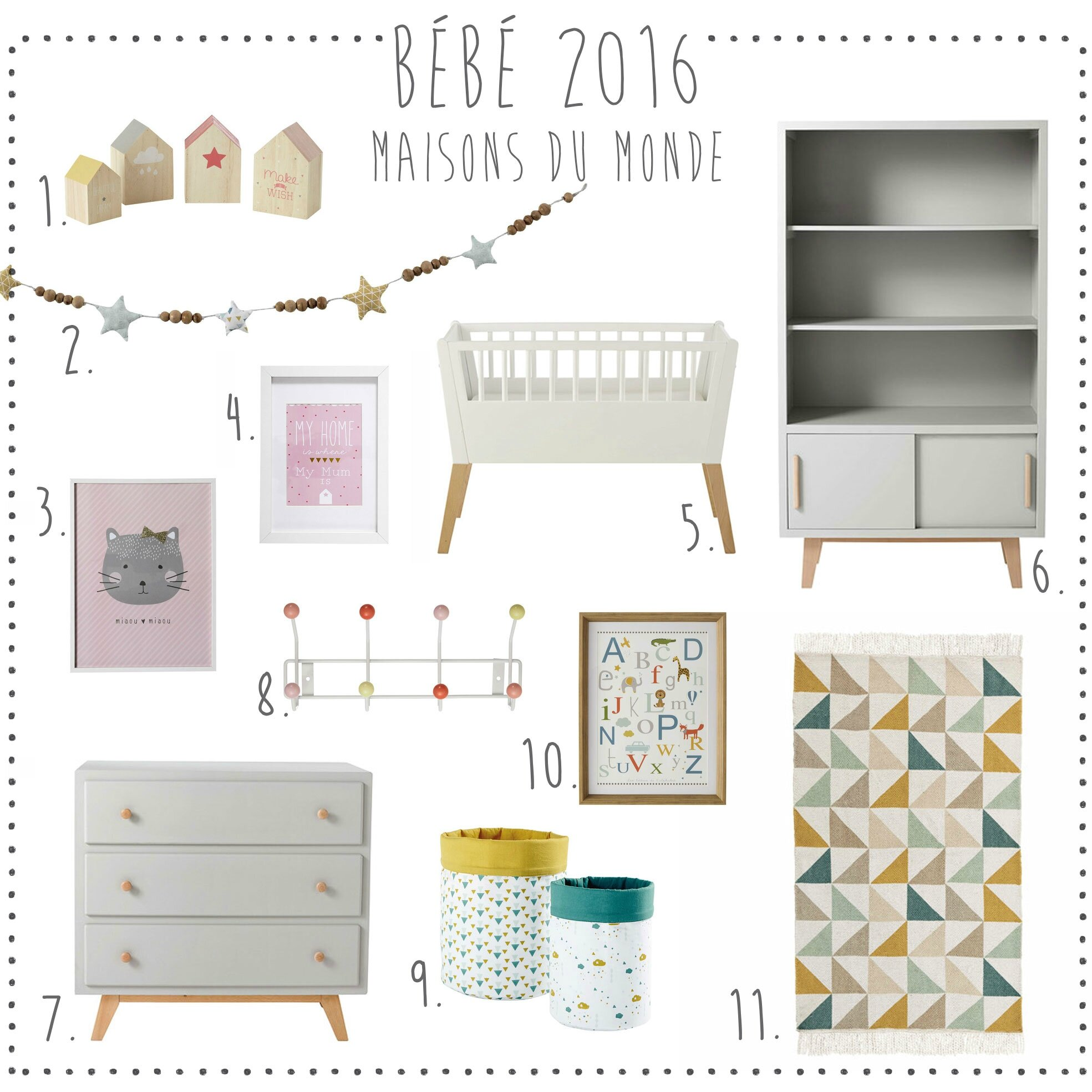 Nouveau catalogue junior 2016 maisons du monde deco for Catalogue chambre