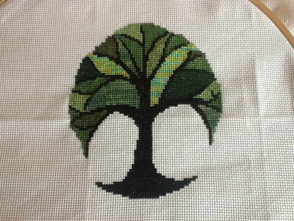 Nata arbre vert