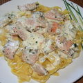 Tagliatelles au saumon