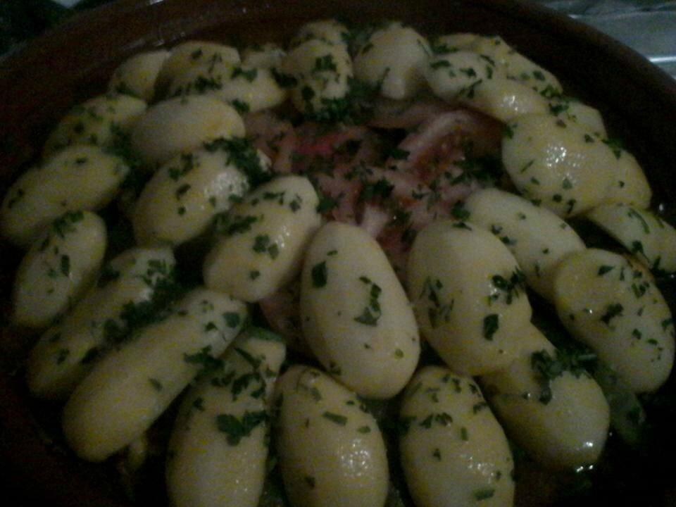 Tajine poulet/haricots coco/pommes de terre