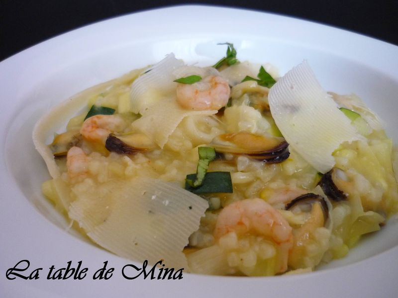 risotto aux fruits de mer au thermomix la table de mina. Black Bedroom Furniture Sets. Home Design Ideas