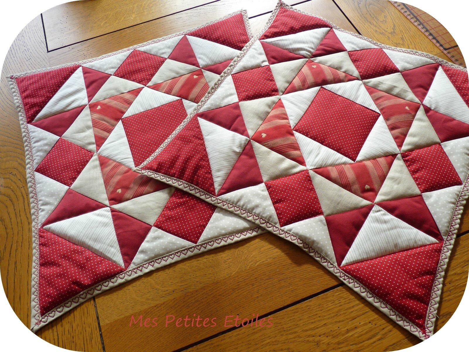 Mes petites etoiles by delph - Chemin de table en patchwork ...
