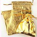 Lot de 100 sacs organza doré ou argenté 7*9 cm (réf dra-do-arg)