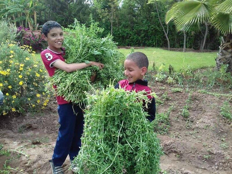 Ayoub et Mouad transportent