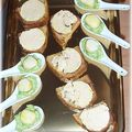 Cuillers apéritives : noix de saint-jacques aux agrumes, crème d'avocat