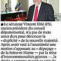 Grand paris : vincent eblé dénonce un amendement pour chelles !