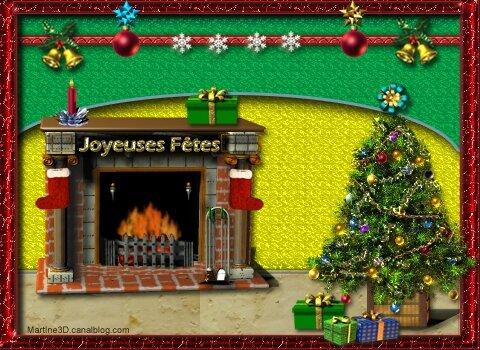 020-carte-bonne-Année-2016-cheminée-sapin-décoration- Noël-cadeaux-chaussettes