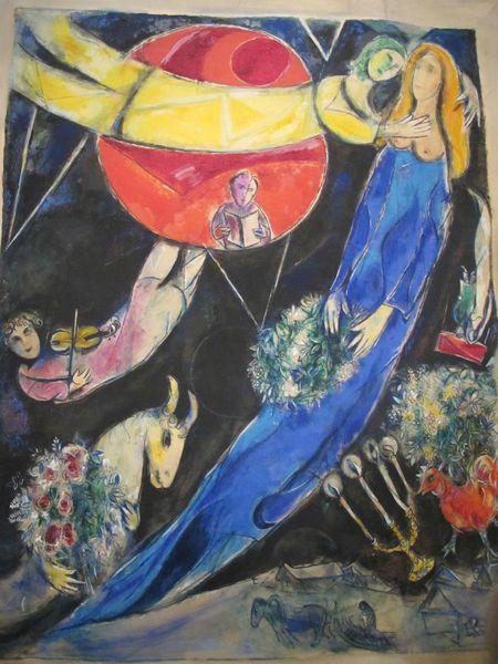 chagall monde rouge et noir