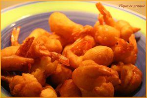beignets de crevette (tempura)