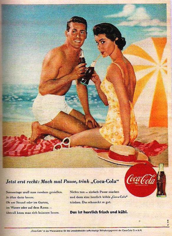 affiche GF puissance US - puissance culturelle marques Coca Cola