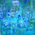 238- Rêve en bleus- 20x20