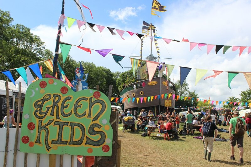 Glastonbury festival 2014 Greenpeace Fields green kids