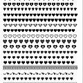 Galons imprimés: coeurs en noir et blanc