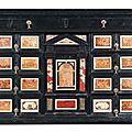 Cabinet en ébène à panneaux de pierres dures. travail italien, probablement florentin, de la fin du xviie siècle