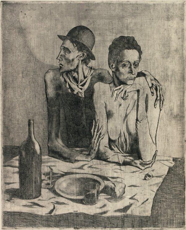 Le repas frugal_Pablo Picasso_1904