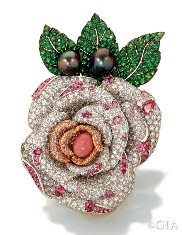 The Princesse de Monaco rose brooch