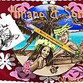 Mariage à tahiti polynésie - menu faire-part
