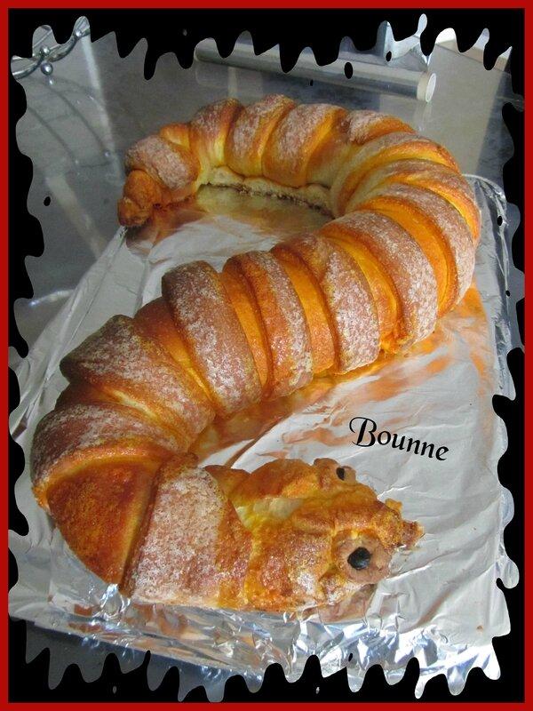 Serpent brioché dessert halloween (7)