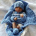 Noé, mini bébé réaliste de 15 cm!