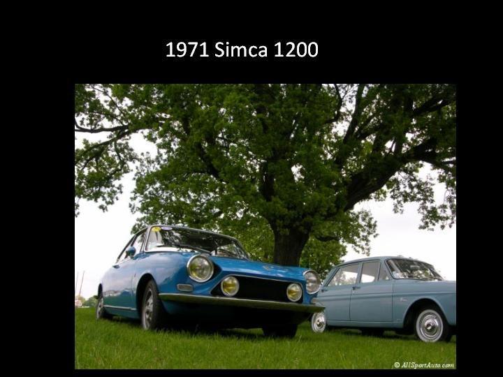 1961 - Simca 1200 -