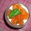 Caviar d'aubergine au chevre frais et tomates confites : ronde recette autour d'un ingredient : l'aubergine