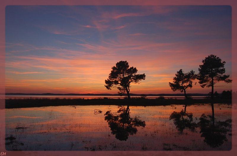 Lacanau Coucher De Soleil Sur Le Lac Photo De Lacanau