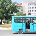 Bus sur la route en sortant de Turquie