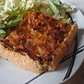 Tarte aux poireaux & champignons - pâte brisée au parmesan