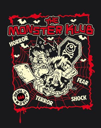 T-Shirt MONSTER KLUB F