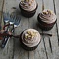 Cupcakes au chocolat et nocciolata