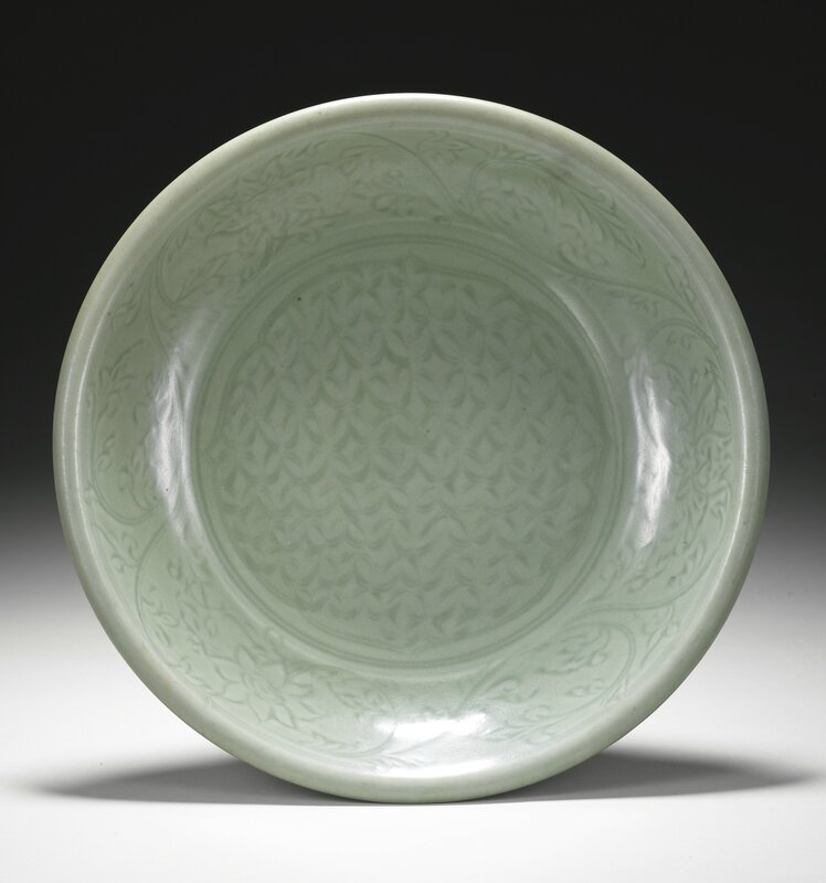 A 'Longquan' celadon dish, Ming dynasty, 15th century