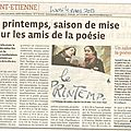 Article Salon de Poésie