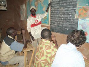 une salle de classe à l'ancienne Pays Dogon Mali