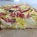 Pizza à la fondue de poireaux et...