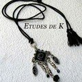 Pendentif mtal noir
