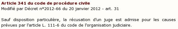 article 341 du code de procédure civile