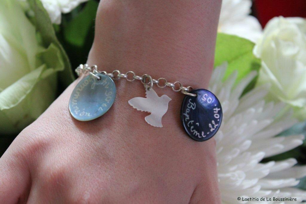 Le bracelet personnalisé de Mélanie